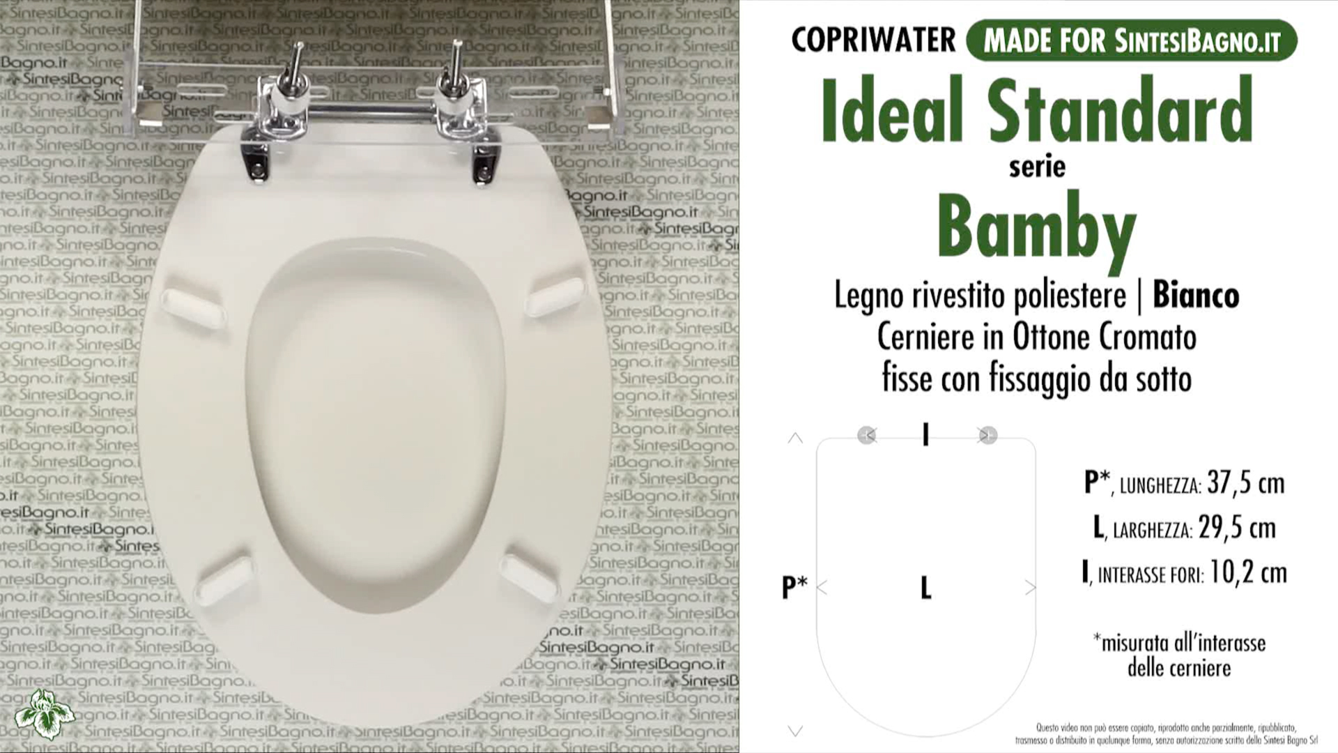 Collezione bamby di ideal standard ricambio copriwater for Ideal standard diagonal
