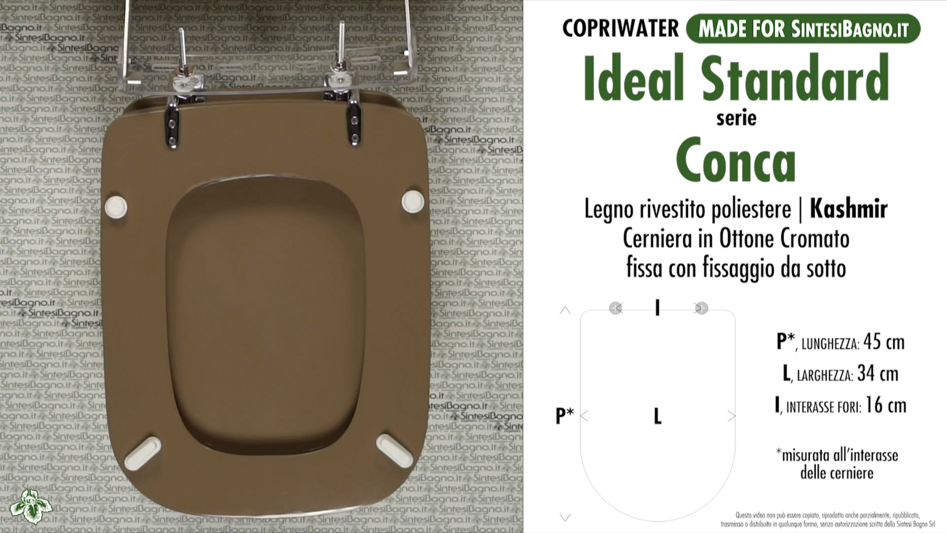 Conca colore kashmir catalogo ricambi copriwater ideal for Copriwater ideal standard tesi